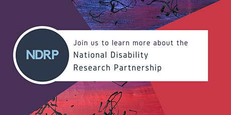 National Disability Research Partnership Webinar July tickets