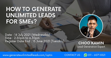 FREE TRAINING: Generate Unlimited Leads For SMEs On Automation tickets