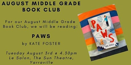 August Middle Grade Book Club - PAWS tickets