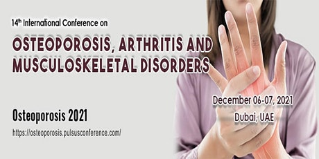 14th International Conference on Osteoporosis and Arthritis tickets