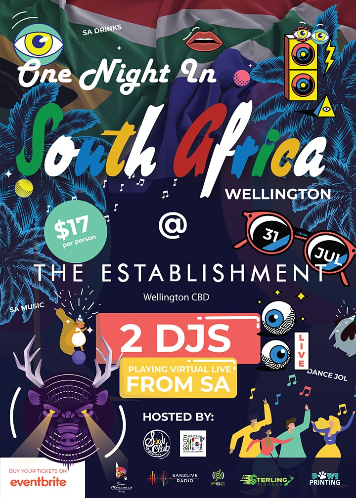 One Night in South Africa Wellington @ The Establishment image