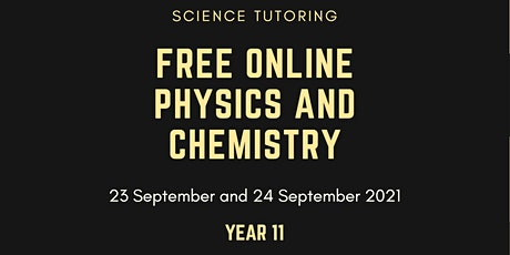 HSC Physics and HSC Chemistry, Year 11 tickets