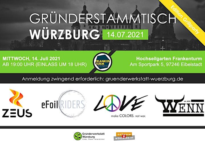 Gründerstammtisch Würzburg Edition Grillparty 14.07.2021: Bild