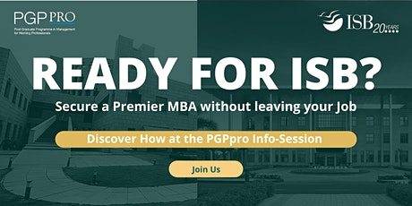 ISB PGPpro Executive MBA: Q&A with Admissions Team tickets