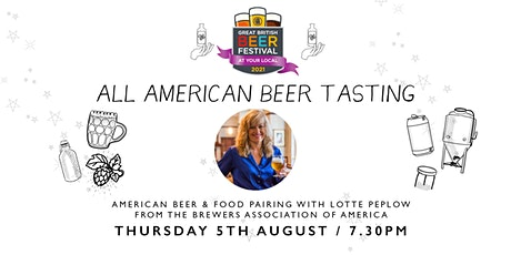 All American Beer Tasting, with Lotte Peplow from Brewers Association tickets