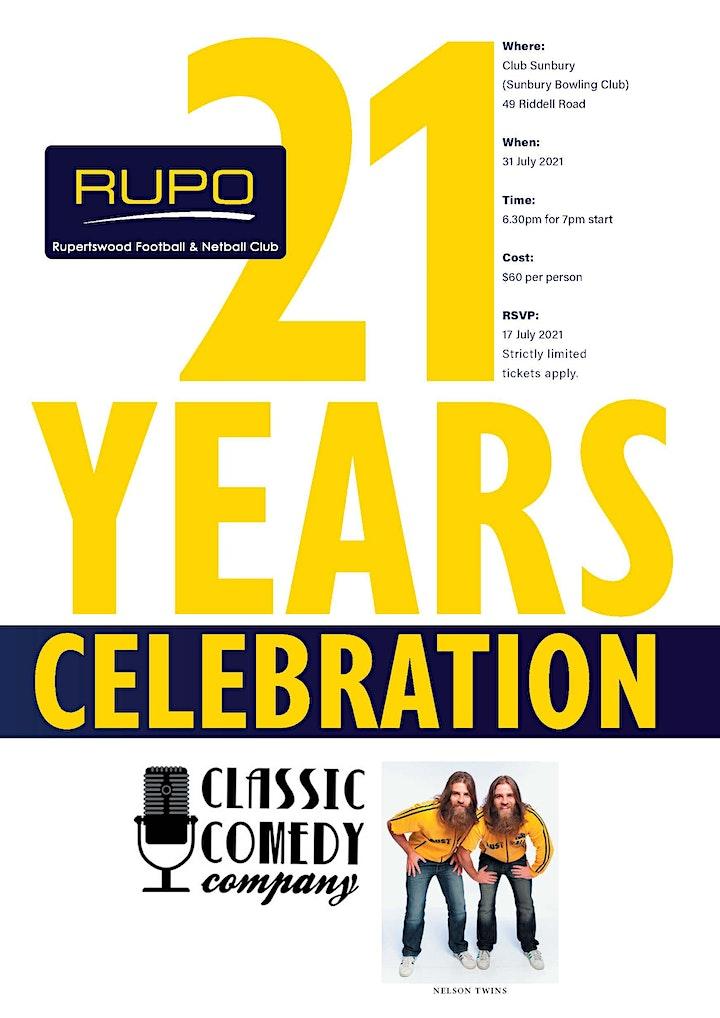 Rupertswood Football Netball Club - 21 Years Celebration image