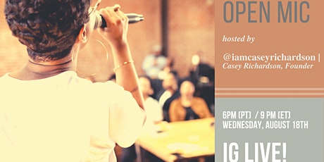 August For the Record Spoken Word Open Mic Event tickets