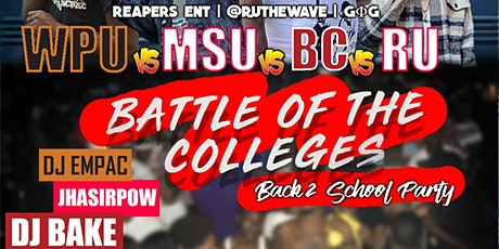 Battle of the Colleges: Back to School Party tickets