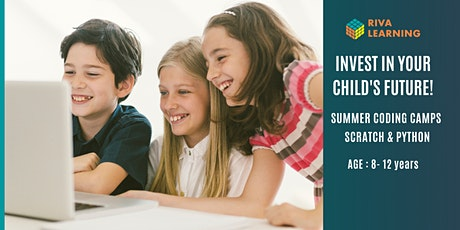 Summer Coding Camps - Intermediate scratch for kids - Aug 9th afternoon tickets
