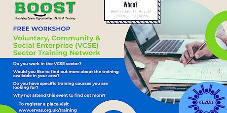 Voluntary, Community & SocialEnterprise (VCSE)   Sector Training Network tickets