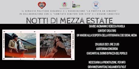Notti di Mezza Estate  con Davide Anzimanni e Rebecca Paviola biglietti