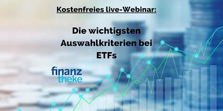 Die wichtigsten Auswahlkriterien bei ETFs Tickets