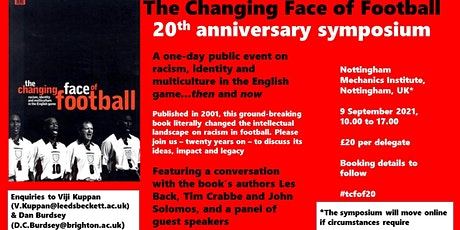 The Changing Face of Football @ 20 tickets