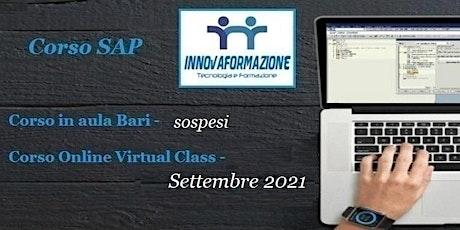 Corso SAP Finanza e Controllo online 2021 biglietti