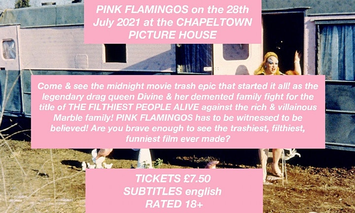 Pink Flamingos (1972) at the Chapeltown Picture House! image