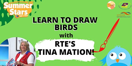 Learn to draw birds with Tinamation tickets