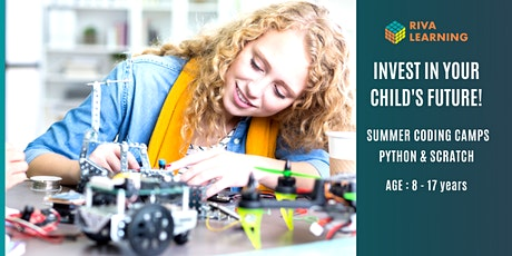 Online Summer Coding Camps- Intermediate Python, Mon to Fri, 1pm to 4 pm tickets