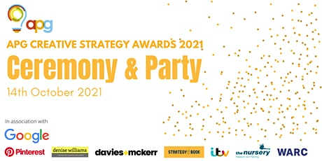 APG Creative Strategy Awards Ceremony & Party tickets