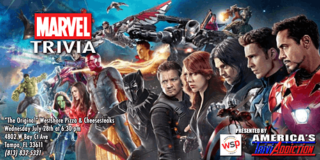 MARVEL THEMED TRIVIA - ONE TICKET PER ATTENDEE tickets
