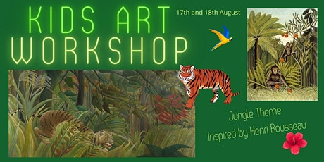 Two Day Summer Art Workshop - Kids age 7-11 - 10am till 2pm - Jungle Theme tickets