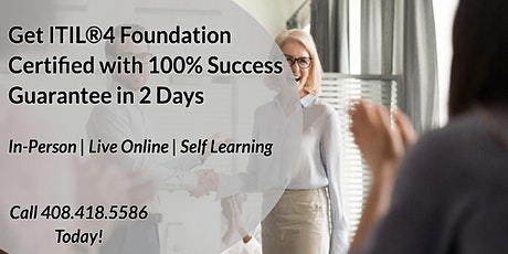 ITIL®4 Foundation 2 Days Certification Training in Charlottesville tickets