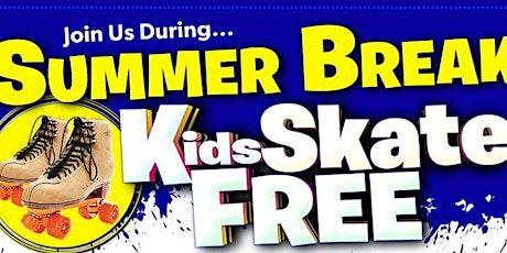 Kids Skate FREE  in July on Sundays  - Sunday, July 25th 1:00-3:00pm tickets