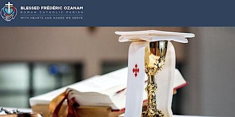 SUNDAY MASS REGISTRATION | July 31/Aug 1| Blessed Frédéric Ozanam Parish tickets