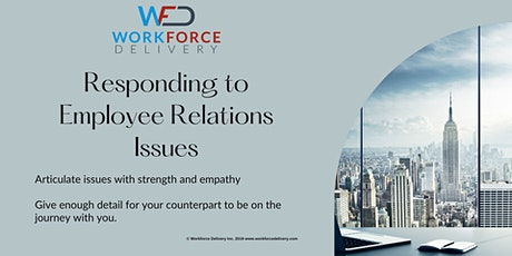 Responding to Employee Relations Issues: Letter Writing billets