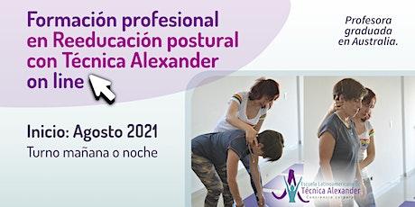 Formación profesional on line en Reeducación postural con Técnica Alexander bilhetes