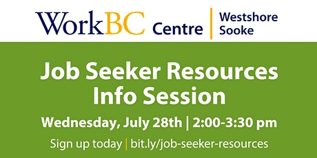 Job Seeker Resources Info Session tickets