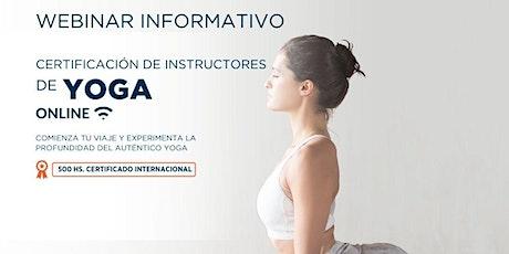 Webinar Informativo  Gratuito - PROFESORADO DE YOGA ONLINE  2021 biglietti