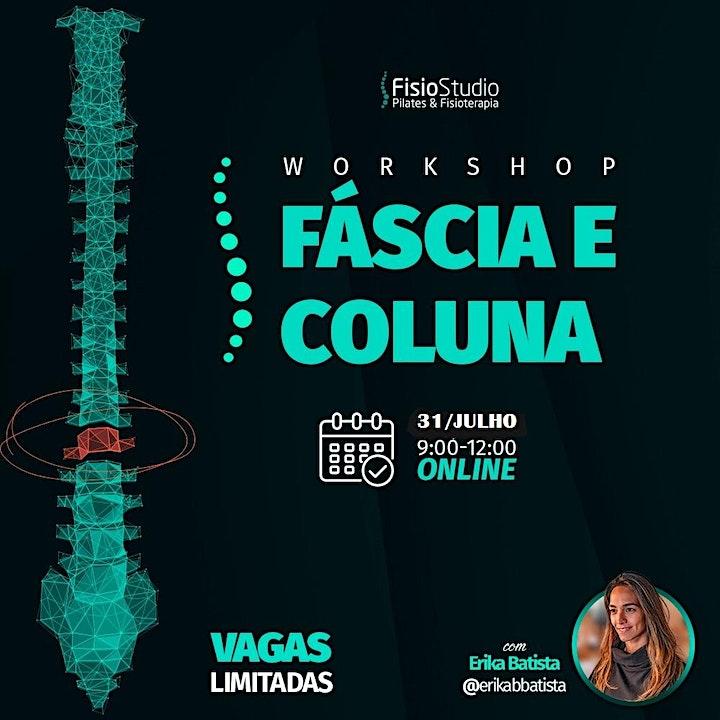 Imagem do evento Workshop on line  - Fáscia e Coluna na Prática - 31/ julho/2021