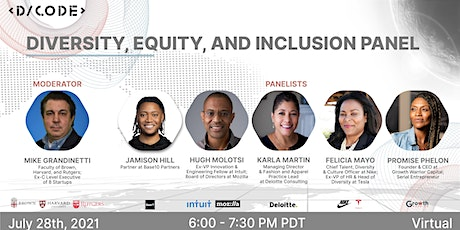 Diversity, Equity, and Inclusion in Tech Panel tickets