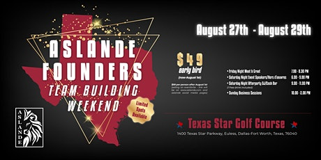 Aslande Founders Team Building Weekend tickets