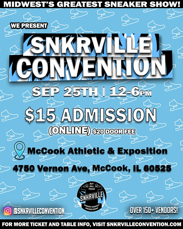 """Snkrville """"Midwest's Greatest Sneaker Show"""" image"""