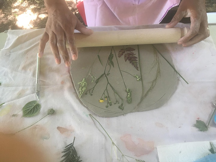 Nature printing in clay image