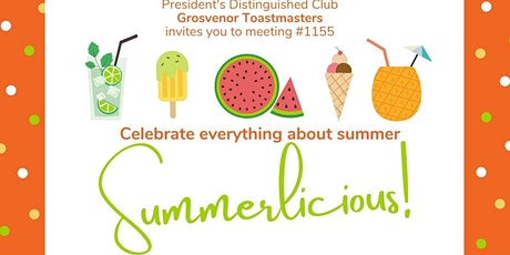 gTM Online Club Meeting #1155 - Theme: Summerlicious tickets