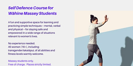 Self Defence Course for Wāhine Massey Students tickets