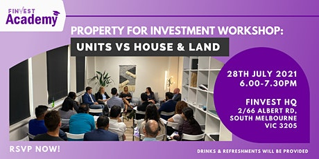 ONLINE Property for Investment Workshop: Units VS House & Land tickets