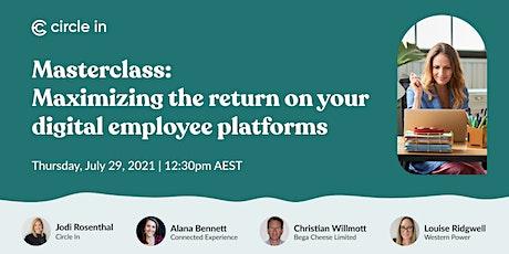 Masterclass: Maximizing the return on your digital employee benefits tickets