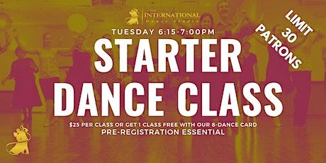 [AUGUST] Join 5 Adult Starter Ballroom & Latin Dance Classes! tickets