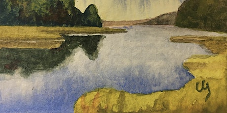 Watercolor for Beginner Online Class Th 7/8 to 7/29 tickets