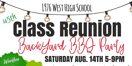 West High Class of '76 45th Reunion tickets