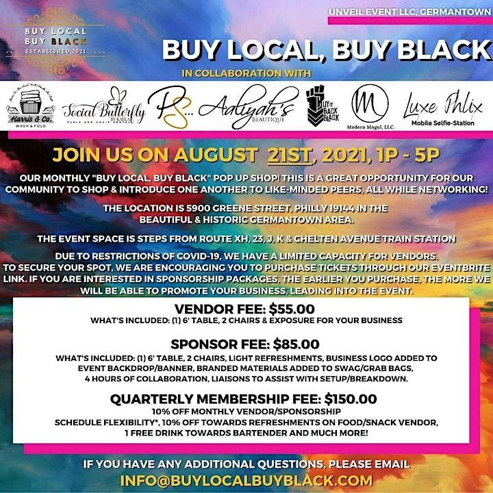 August - Buy Local, Buy Black! Pop Up Shop! image