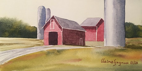 Watercolor for Beginner Online Class, for Adults, Th 9/9 to 10/21 tickets