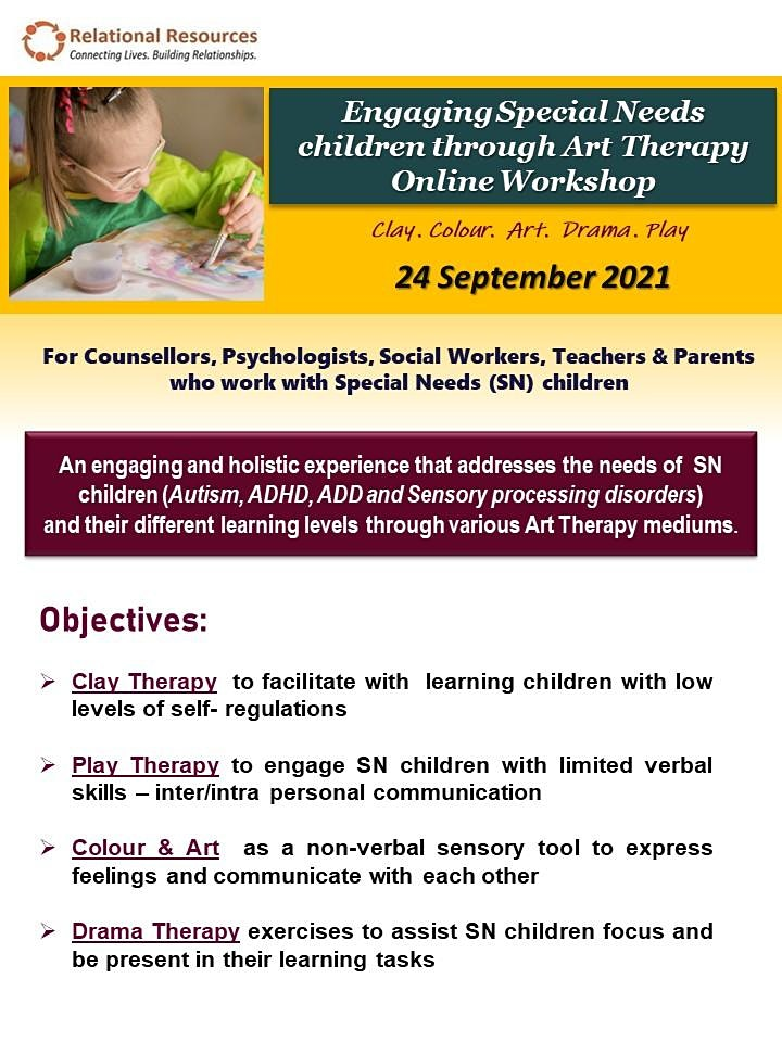 Engaging Special Needs children through Art Therapy  Online Workshop image
