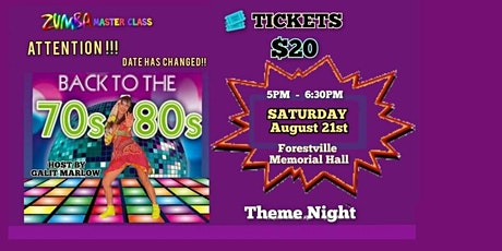 Back To The 70s and 80s tickets