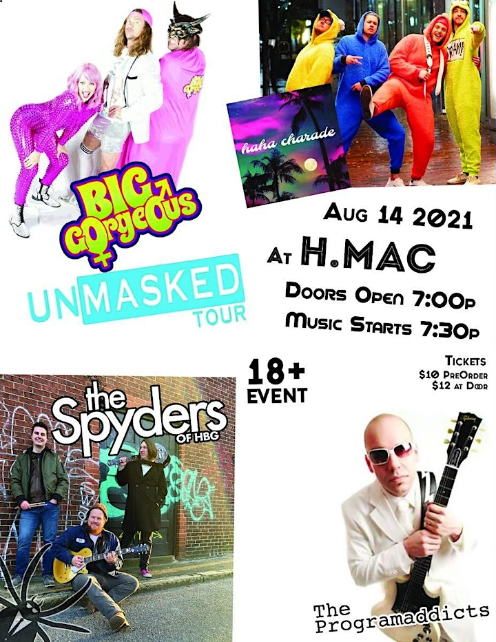 Big Gorgeous UNMASKED Tour  w/guests at HMAC Stage on Herr image