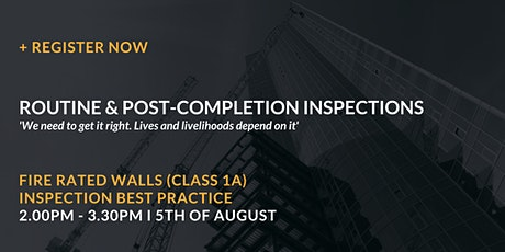 Fire rated walls (Class 1a) – Inspection best practice tickets