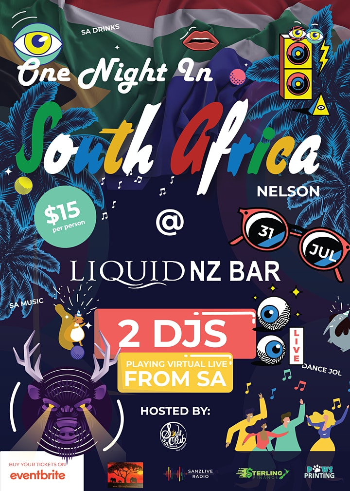 One Night in South Africa Nelson @  Liquid  NZ Bar image